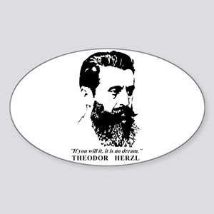 Theodor Herzl - Israel Quote Sticker
