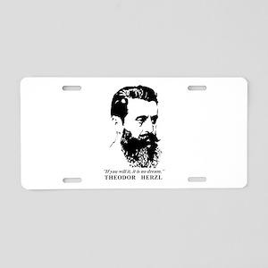 Theodor Herzl - Israel Quot Aluminum License Plate