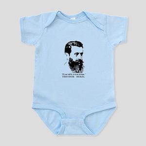 Theodor Herzl - Israel Quote Body Suit