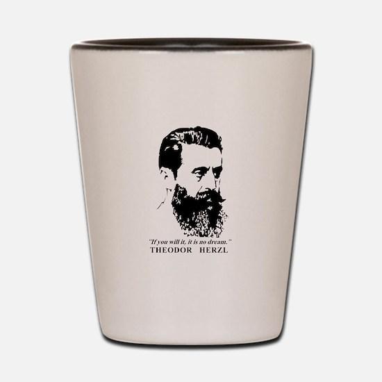 Theodor Herzl - Israel Quote Shot Glass