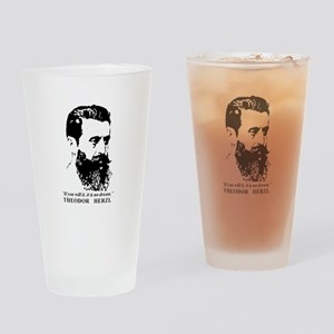 Theodor Herzl - Israel Quote Drinking Glass