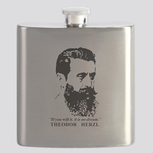 Theodor Herzl - Israel Quote Flask