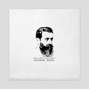 Theodor Herzl - Israel Quote Queen Duvet