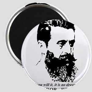 Theodor Herzl - Israel Quote Magnets