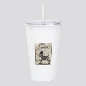 The Airedale Wants to Acrylic Double-wall Tumbler