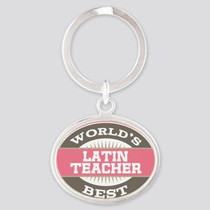 latin teacher Oval Keychain