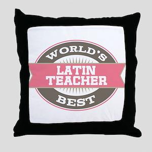 latin teacher Throw Pillow