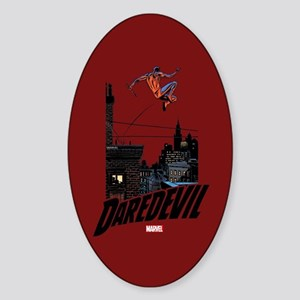 Daredevil Roof Jumping Sticker (Oval)