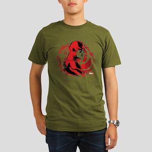 Daredevil Splatter Ba Organic Men's T-Shirt (dark)