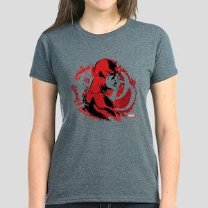 Daredevil Splatter Background Women's Dark T-Shirt