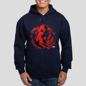 Daredevil Splatter Background Hoodie (dark)