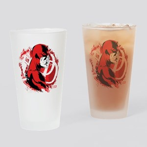 Daredevil Splatter Background Drinking Glass