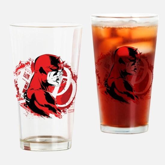 Daredevil Splatter Background Drinking Glass