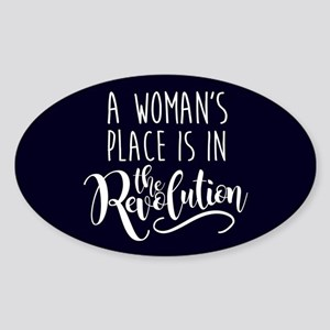 Womans Place in Revolution Sticker (Oval)