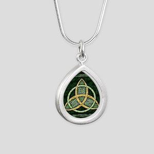 Triquetra Silver Teardrop Necklace