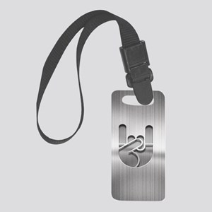 Stainless Rock Hand Small Luggage Tag