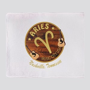 Nashville Aries Music City Throw Blanket