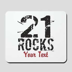 Personalized 21 Rocks Mousepad