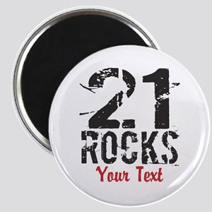 Personalized 21 Rocks Magnets