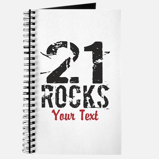 Personalized 21 Rocks Journal