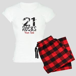 Personalized 21 Rocks Pajamas