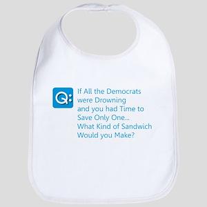 Democrat Sandwich Baby Bib