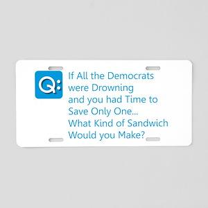 Democrat Sandwich Aluminum License Plate