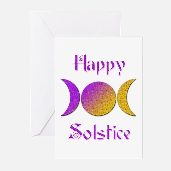 Happy Solstice 4 Greeting Cards