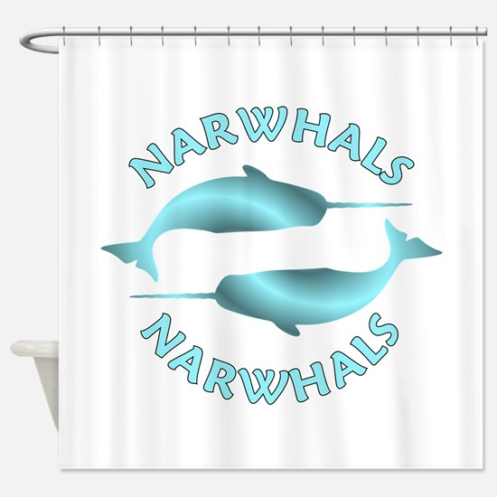 Cute Narwhal Shower Curtain