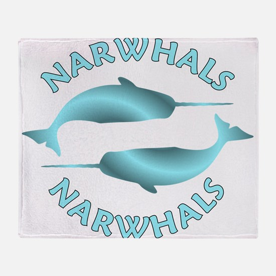 Cool Narwhals Throw Blanket
