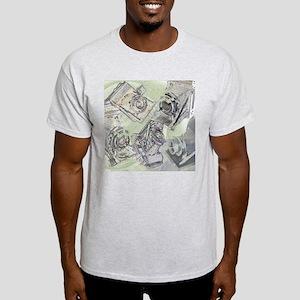 Ash Grey T-Shirt - Folding cameras