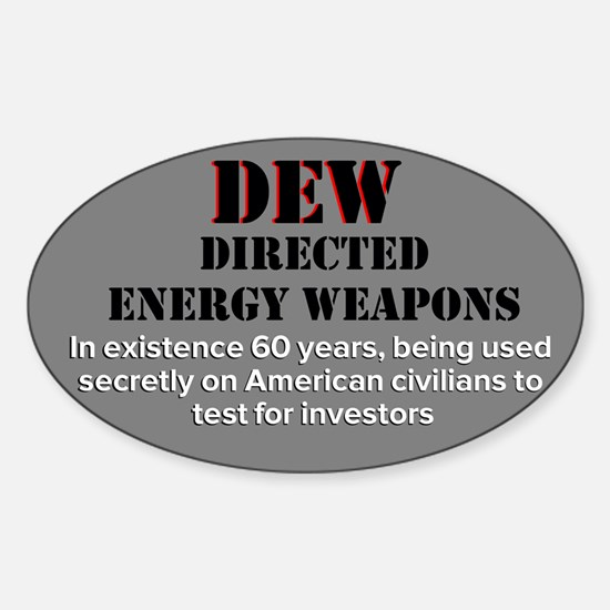 Directed Energy Weapons Sticker (Oval)