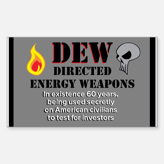 Directed Energy Weapons Sticker (Rectangle)