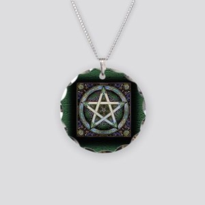 Pentacles Necklace Circle Charm