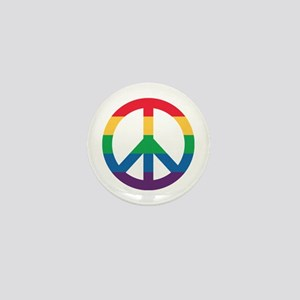 Rainbow Peace Sign Mini Button (10 Pack)