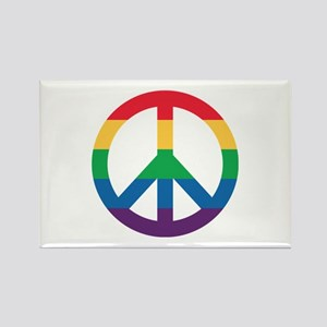 Rainbow Peace Sign Magnets