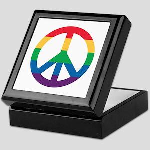 Rainbow Peace Sign Keepsake Box