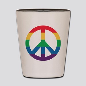 Rainbow Peace Sign Shot Glass