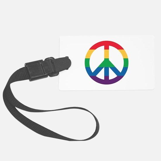 Rainbow Peace Sign Luggage Tag