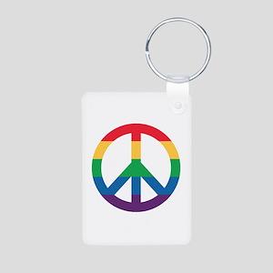 Rainbow Peace Sign Keychains