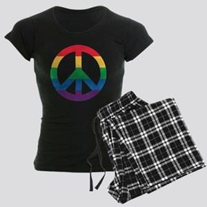 Rainbow Peace Sign Pajamas