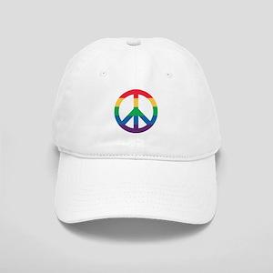Rainbow Peace Sign Hat