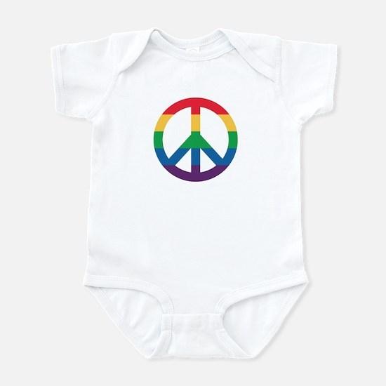 Rainbow Peace Sign Body Suit