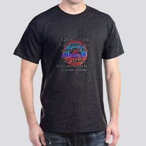 I Survived Obama Dark T-Shirt