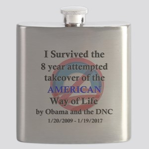 I Survived Obama Flask