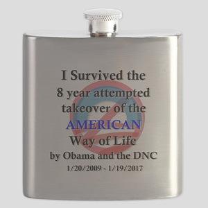 I Survived Obama Flask