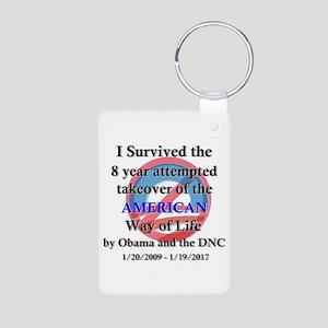 I Survived Obama Aluminum Photo Keychain