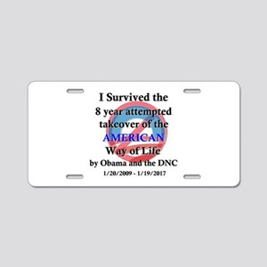 I Survived Obama Aluminum License Plate