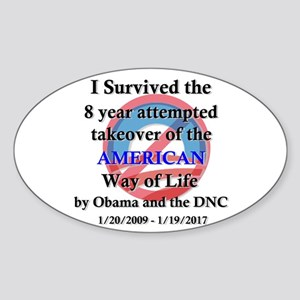 I Survived Obama Sticker (Oval)