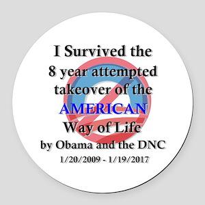 I Survived Obama Round Car Magnet